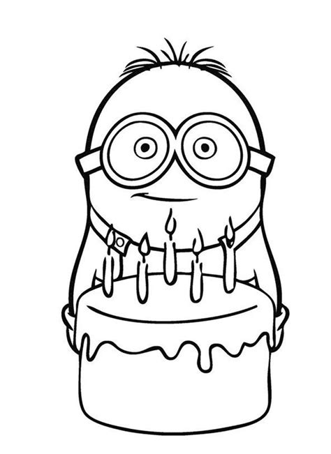 minion cupcake coloring page 25 best ideas about geburtstag bilder kostenlos on