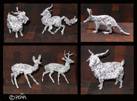 What Do You Think Of Topshops Foil Terrific Or Terrifying by Aluminum Foil Animals By Reptangle On Deviantart