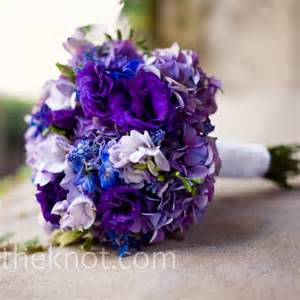 purple and blue bouquet weddingbee