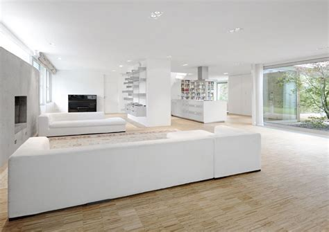 White Modern Living Room | modern minimalist white living room interior architecture