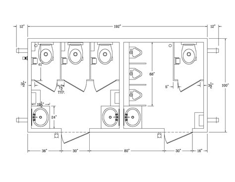 Ada Bathroom With Shower Layout by Bathroom Stall Dimensions Restrooms