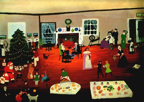 christmas at home grandma moses wikipaintings org