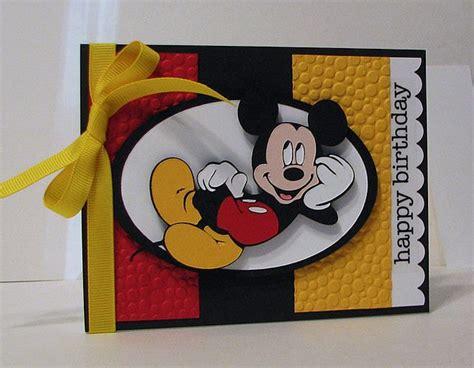 Mickey Mouse Card - mickey card cricut