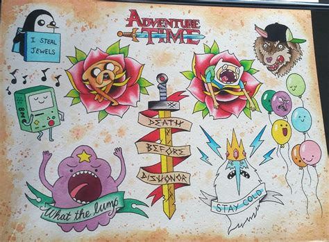adventure time tattoo adventure time search tattoos