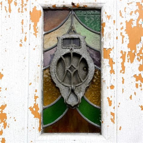 Antique Stained Glass Doors For Sale Antique 36 Door With Stained Glass Speakeasy Door Knocker Ned155 For Sale Antiques