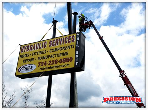 precision sign and awning business sign installation precision sign awning