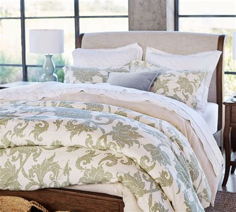 pottery barn linen sheets review pottery barn linen silk duvet review roll over image to
