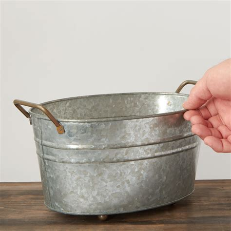 vintage galvanized bathtub vintage inspired galvanized wash tub baskets buckets