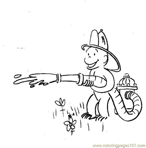 curious george coloring page pdf curious george fireman coloring page free curious george
