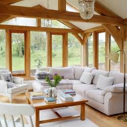 interior country homes living room with stunning garden views living room