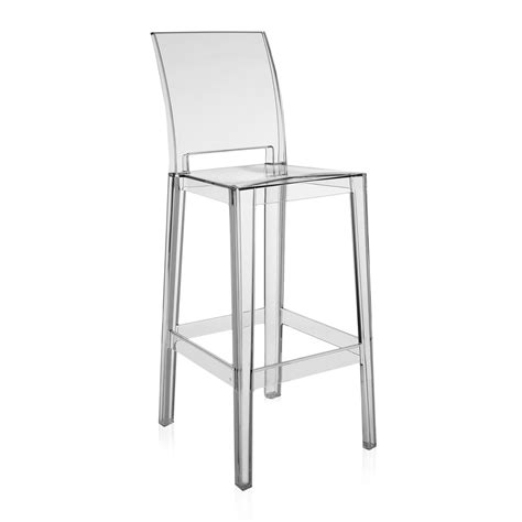clear ghost bar stool with back decofurnish