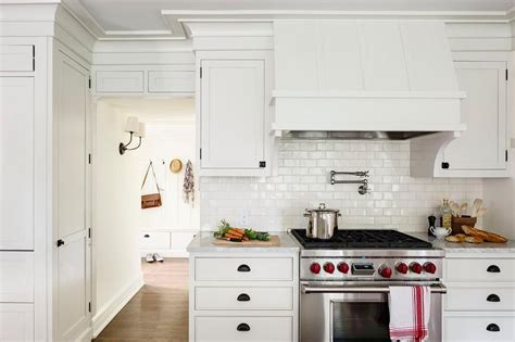 white tile kitchen kitchen with white glazed mini subway tile backsplash