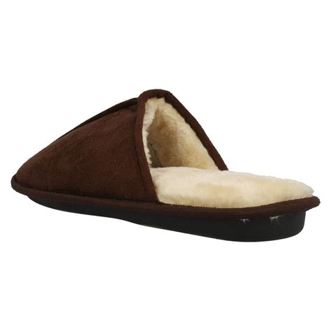 memory foam slipper boots mens memory foam plain mule slippers ebay