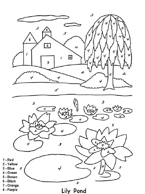 color by numbers coloring pages download and print color