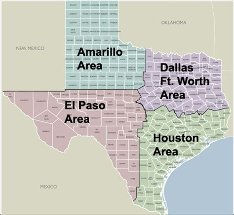 county 5 digit zip code maps of texas