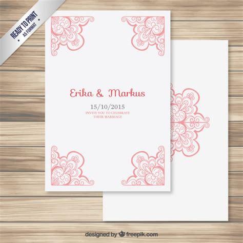 Wedding Card Freepik by Wedding Card With Ornamental Corners Vector Free