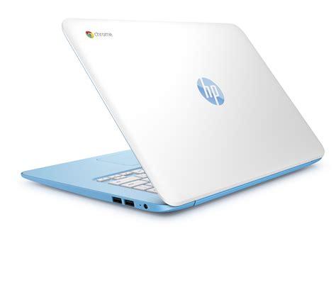 light blue hp laptop hp r 233 vise chromebook 14 avec de l intel et du hd