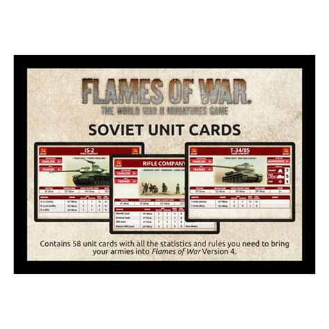 V4 Card Template Flames Of War by Alphaspel