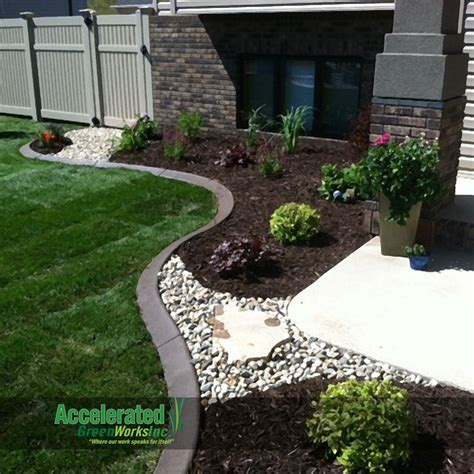 Landscape Rock Mulch River Rock And Flagstone Step Allow Access Through
