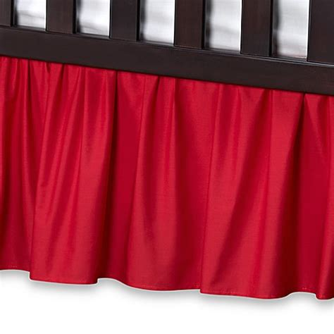 red bed skirt crib skirts gt t l care cotton percale crib bed skirt in