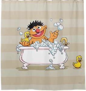Sesame Shower Curtain by Sesame Ernie In The Bath Shower Curtain