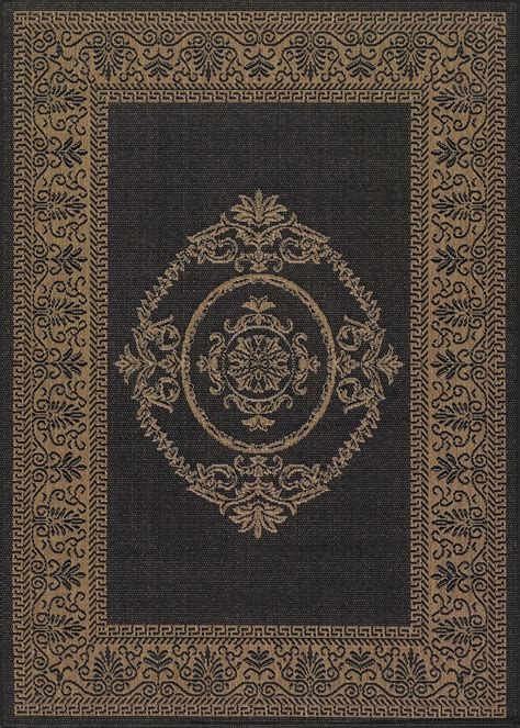 recife collection by couristan antique medallion black