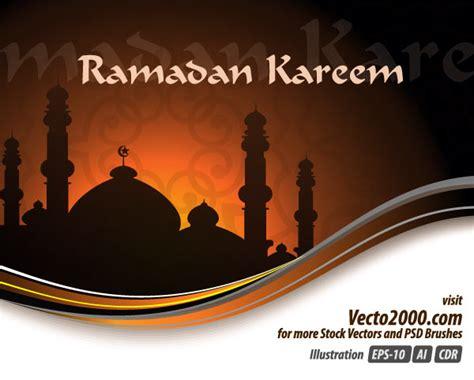 ramadan card templates ramadan kareem vector greeting card design free