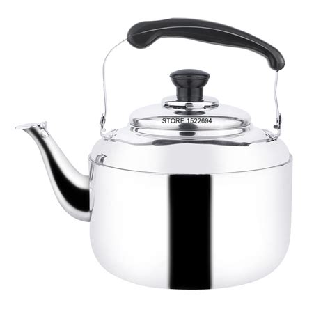 Stainless Whistling Kettle 5l Utu capacity 5l whistling kettle stainless steel tea kettle mirror finish water kettle gas oven