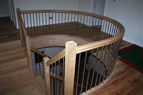 Landing Banister by Curved Handrails Wooden Handrails Made To Order