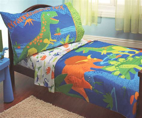 dinosaur bed set t rex dinosaurs toddler bedding set 4pc comforter bed