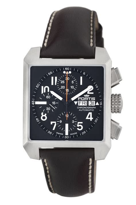 fortis square chronograph collection brands