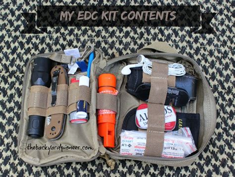 every day carry kit my everyday carry kit edc the backyard pioneer