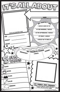 about me template best 25 all about me poster ideas on homework