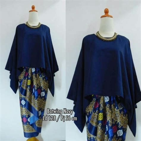 Rok Blouse Batik Arizta Batwing stelan atasan blouse kebaya batwing dan rok lilit wanita