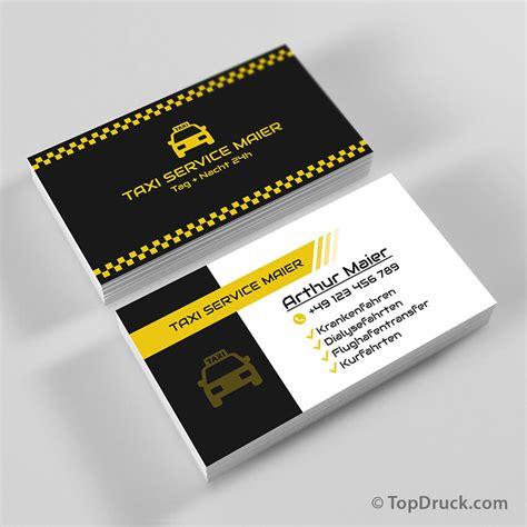 Visitenkarten Taxi by Taxi Service Visitenkarten Design Topdruck