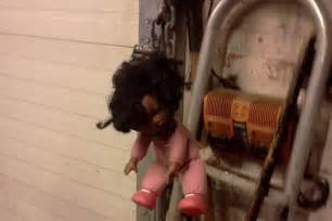 black doll noose parks department worker busted for hanging doll from noose