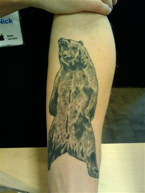 grizzly bear forearm tattoo tattooimages biz