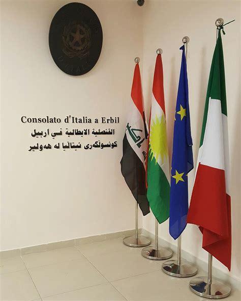 consolato iraq consolato d italia a erbil