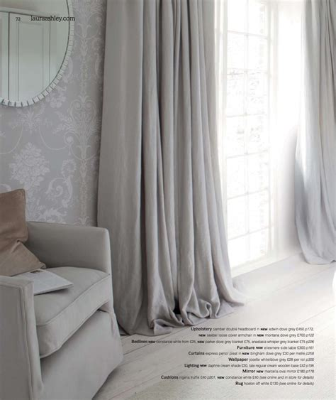 laura ashley bedroom curtains soft fabric curtains grey plain gras pinterest