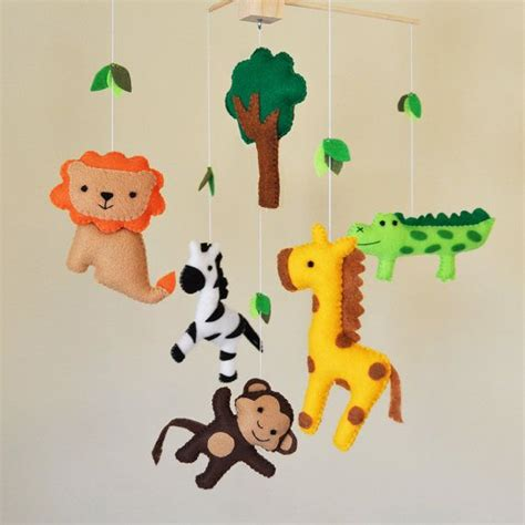 Jungle Themed Nursery Ls by Hanging Jungle Safari Baby Mobile Eco Friendly By Carrotfever 80 00