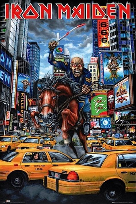 Plakat Iron Maiden by Iron Maiden New York Poster In 2018 Iron Maiden