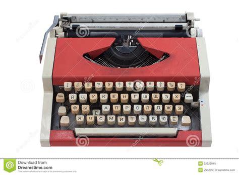 typewriter keyboard layout design retro typewriter with cyrillic keyboard layout royalty