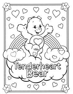 wonderheart bear coloring pages wonderheart bear classic cartoon coloring pages