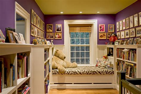 window seat reading nook at end of stair hallway traditional burlington by smith