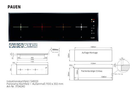 panorama kochfeld induktion panorama kochstelle induktion 1100 x 350 mm f 252 r downdraft