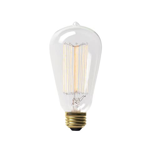 60w vintage style incandescent edison light bulb by