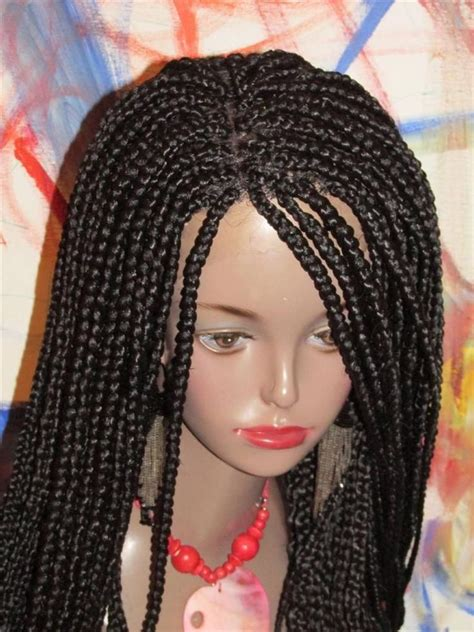 fully braided african wigs fully braided lace front wig big box braids solange color