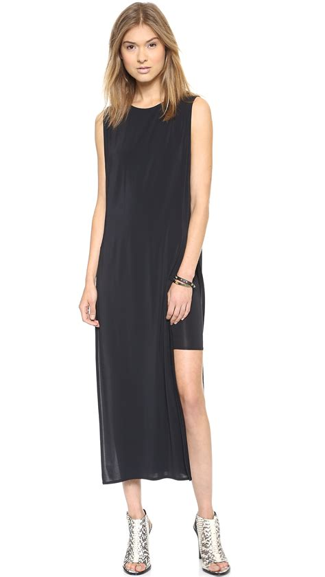 Dress Sipon helmut lang high slit dress siphon in black lyst