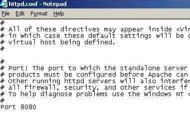 configure xp apache port how to install apache 1 3 web server on windows to create
