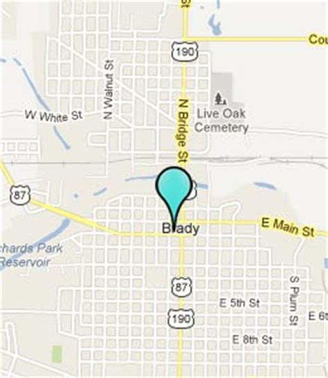 brady texas map brady texas hotels motels see all discounts